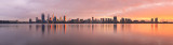 Perth and the Swan River at Sunrise, 23rd June 2016