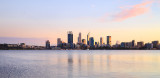 Perth and the Swan River at Sunrise, 4th July 2016