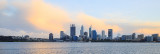 Perth and the Swan River at Sunrise, 9th July 2016