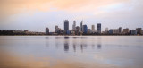 Perth and the Swan River at Sunrise, 10th July 2016