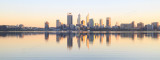 Perth and the Swan River at Sunrise, 24th July 2016