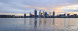 Perth and the Swan River at Sunrise, 29th July 2016