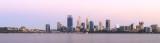 Perth and the Swan River at Sunrise, 6th November 2016