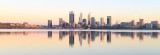 Perth and the Swan River at Sunrise, 23rd January 2017