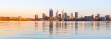 Perth and the Swan River at Sunrise, 27th January 2017