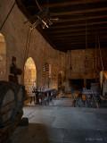 Dinning room. Château de Beynac.