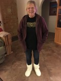 Crystle in her new boots