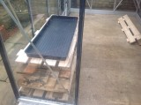 New greenhouse shelves going in