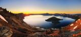 crater lake at sunrise