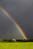 rainbow over the motorway