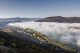 mist above the Danube