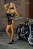 Harley Davidson Biker Babe Glamour Shoot