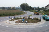 1999: Bau des Kreisverkehrs in Ofenbach
