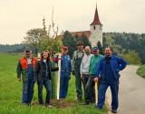 2011: Pflanzung einer Kirschbaumallee zu Ofenbacher Kirche