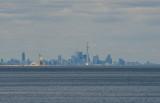 Toronto, 22 miles away across Lake Ontario (Nikon D5100)