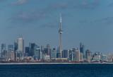 Toronto, 7.5 miles away across Lake Ontario (Fuji 770EXR)