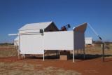 Ready for action - under deep blue Kalahari Skies