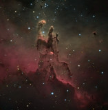 M16, The Pillars of Creation - Tribute to the Hubble Space Telescope