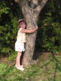 little tree hugger in training.jpg