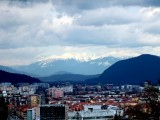 View of Ljubljana and the surrounding mountains