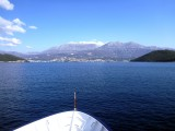 Heading into the Bay of Kotor