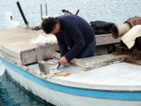 Filleting his catch