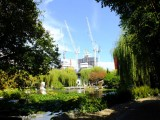 The peace and tranquility of the Garden is sometimes overwhelmed by maybe the too fast growth of the city