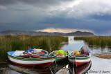 Boats on Lago Titicaca, Bolivia