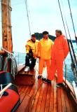 Jens Evensen jr.  - Jens Evensen - Salvesen - ombord i Sydvesten 1997 - Færderseilasen