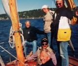 Jens Evensen med Per-Oscar Jacobsen ved roret - Winner Crew - Sydvesten - Vinner Færderseilasen -1997