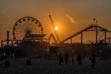 Pacific Park pier silhouettes