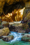 Sea Cave in Golden Light