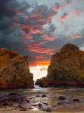 Seascape w/ Red Sky