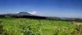 Volcano & Rice Fields; East Bali