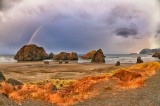 Rainbows over Myers Beach