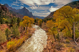 The Virgin River from Canyon Junction Bridge