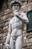 Reproduction of Michelangelo's David on the Palazzo Vecchio