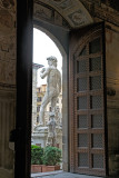 Copy of Michalangelo's David from inside Museo Palazzo Vecchio