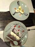 Tiramisu w/Cream and Spoons of White Chocolate & Coconut