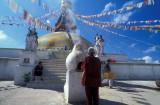 Prayers at Bodnath