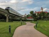 Monorail Leaving Disney's Grand Floridian Resort