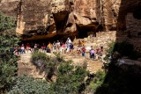 Tour Group Waiting To Enter Cliff Palace