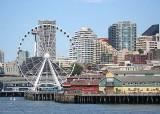 08 waterfront, ferris wheel, space needle,