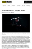 James Blake in Boom Magazine, May 2014