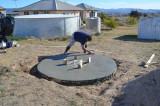 Me floating concrete = a proper Italian!!