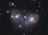 NGC 6769, 6770 & 6771 Interacting galaxies in Pavo - The Devils Mask