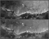 NGC 3324 Hubble comparison