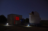 Mike and Pete first night at Terroux Observatory