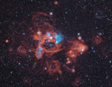 N44 Complex in the LMC - The Crazy Frog Nebula