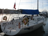 Pink Panther, Reflex 38. Our main training boat for the Yachtmaster programme.